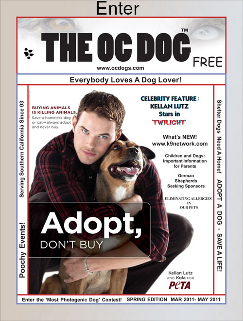 Kellan Lutz Stars In 'Twilight' On The Cover Of OC Dog Magazine 2011